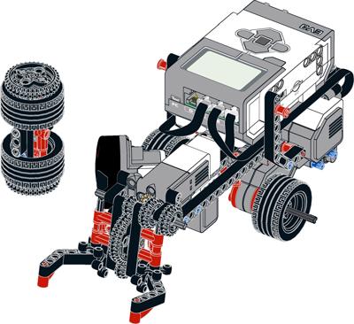 Zdjęcie robota wykorzystywanego na zajęciach pozalekcyjnych misja robotyka nauka robotyki i programowania dla dzieci