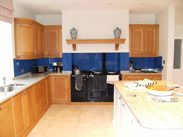 Blue Glass Splash Back