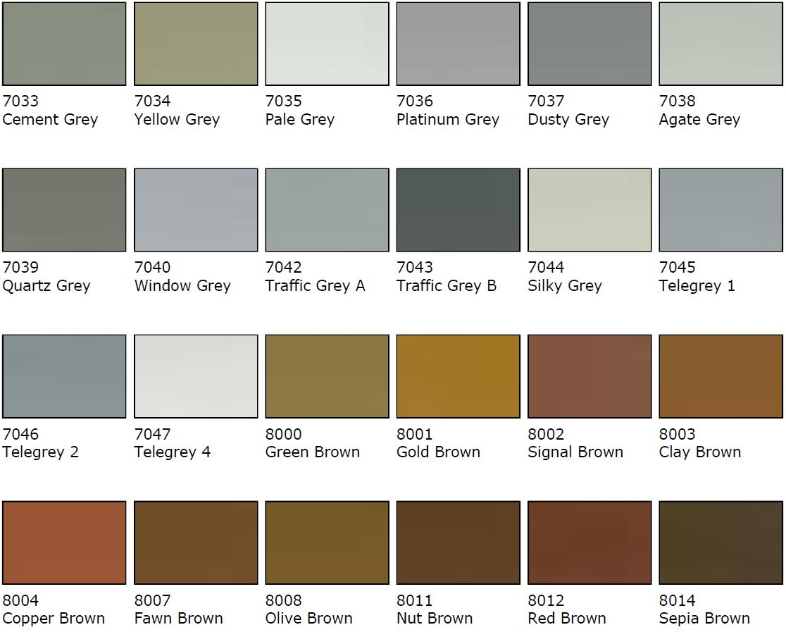 Brown Colour Samples