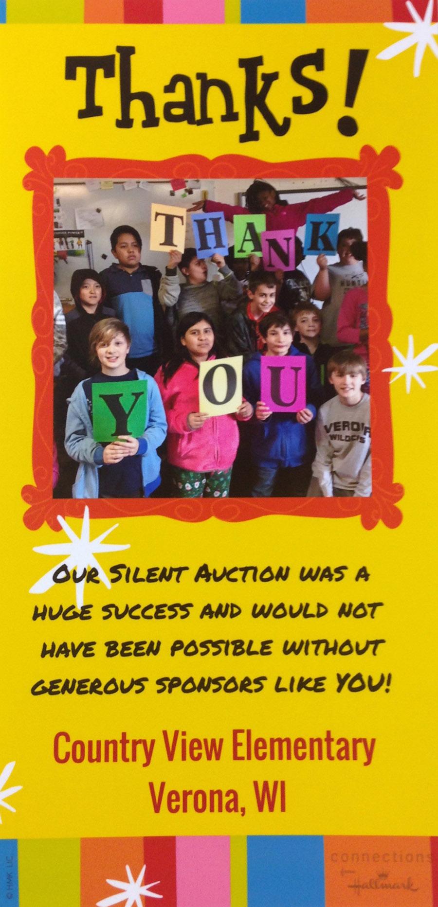 Thanks Country View Elementary School Verona