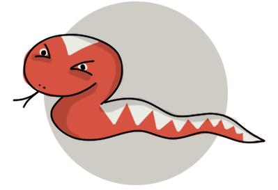 A venomous snake