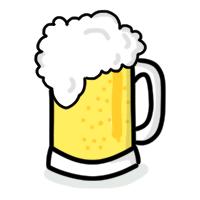A foamy beer