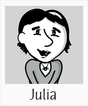 Cartoon of Julia