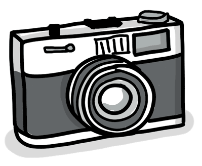 An old-timey camera