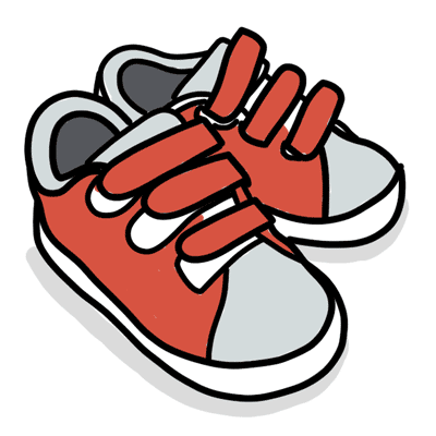 Shoes with velcro fasteners
