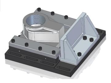 Создание резьбовых отверстий из вала с резьбой с помощью булевых операций solid edge st9