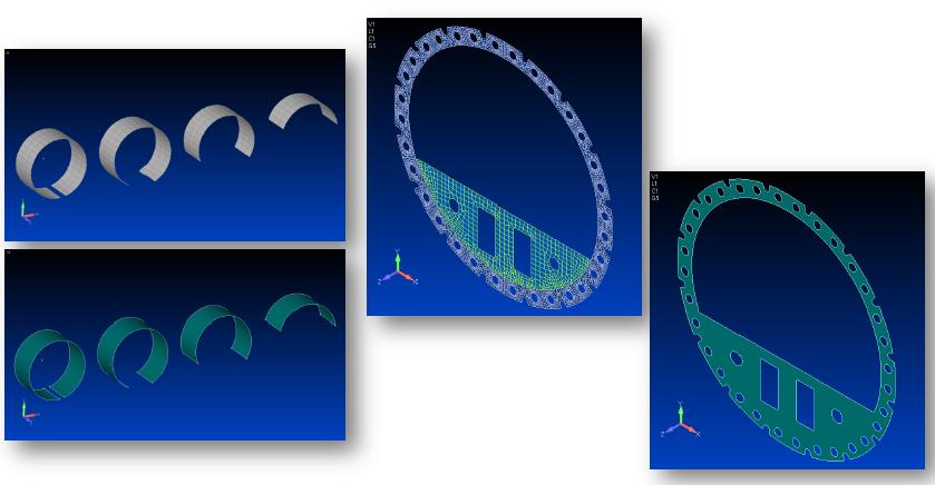 построения сеток на сложных поверхностях в Siemens Femap 11.3, nastran
