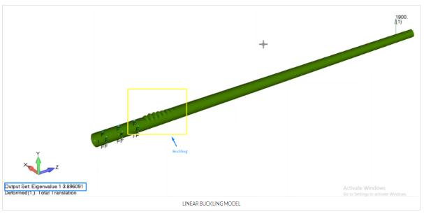 femap, nastran, линейный анализ потери устойчивости, linear buckling, advanced nonlinear solver sol 601, sol601
