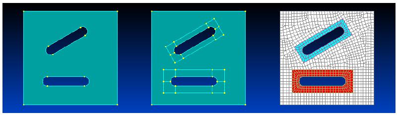 femap, nastran, Washer/Offset Curves, Создание высококачественной сетки вокруг вырезов в Siemens Femap 11.3