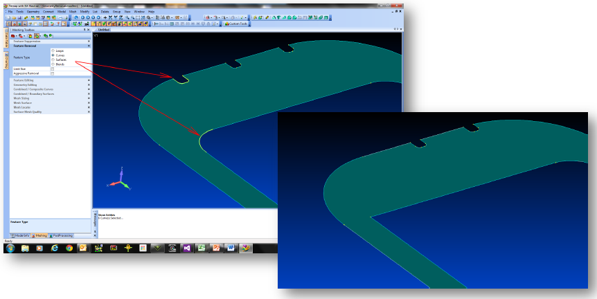 femap, nastran, meshing toolbox, remove