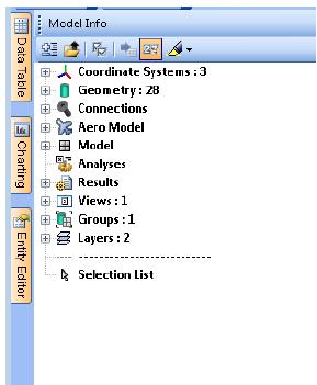 Количество объектов теперь отображается в дереве проекта Model Info, femap, nastran