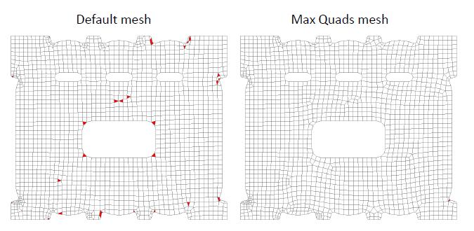 max quads femap 11.3, nastran, Использование опции Max Quads в Meshing Toolbox в Siemens Femap 11.3