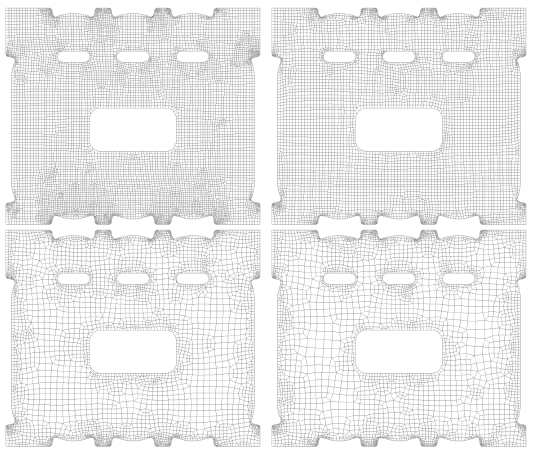 Уплотнение сетки по краям в Siemens Femap 11.3