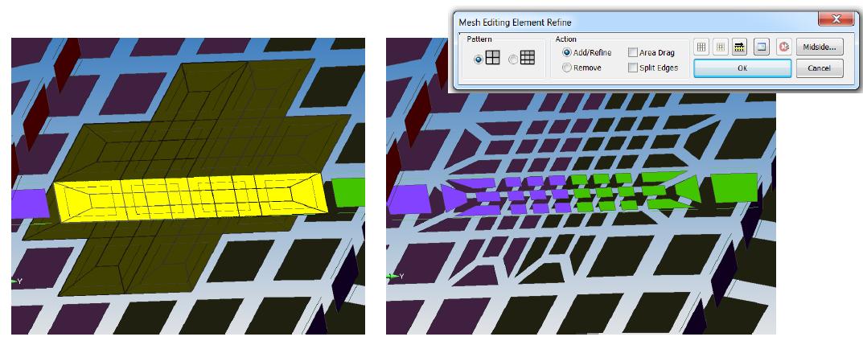 Интерактивное измельчение сетки конечных элементов без использования геометрии в Siemens Femap 11.3