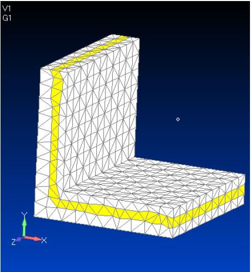 Использование опции Multiple Tet Thru Thickness при разбиении твердотельной геометрии на объемные конечные элементы
