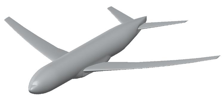 FloEFD Модель NASA CRM