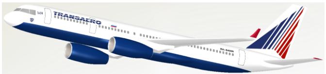 FloEFD Модель российского коммерческого самолета Ту-214