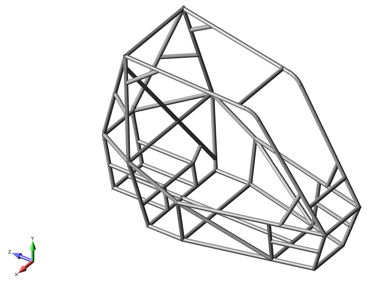 femap 11.4 cadis, Автоматическое построение осевых линий по 3D-геометрии в Siemens Femap 11.