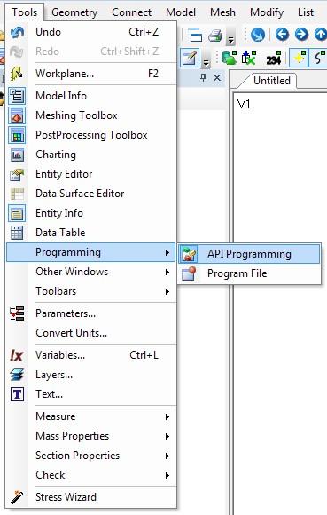 femap 11.3 cadis, Запуск APIиз графического интерфейса Siemens FemapЗапуск APIиз графического интерфейса Siemens Femap