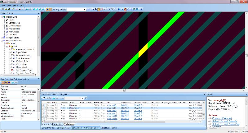 PADS HyperLynx DRC мастер установки правил проектирования