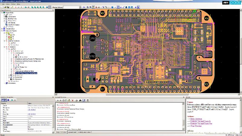 PADS HyperLynx DRC Проверка целостности сигналов и питания