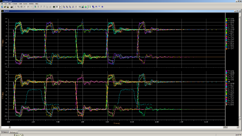 PADS HyperLynx DDR анализ тайминга и качества сигналов