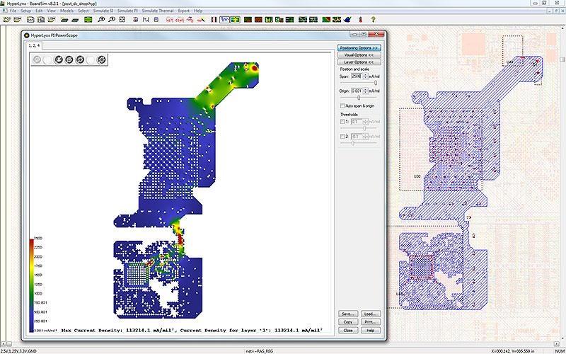 PADS HyperLynx DC Drop Определите области с чрезмерной плотностью тока и проанализируйте порядок слоев печатной платы