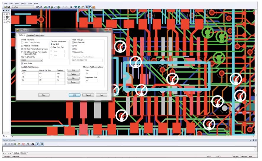 PADS Standard Plus Advanced PCB Layout Аудит тестопригодности (DFT)