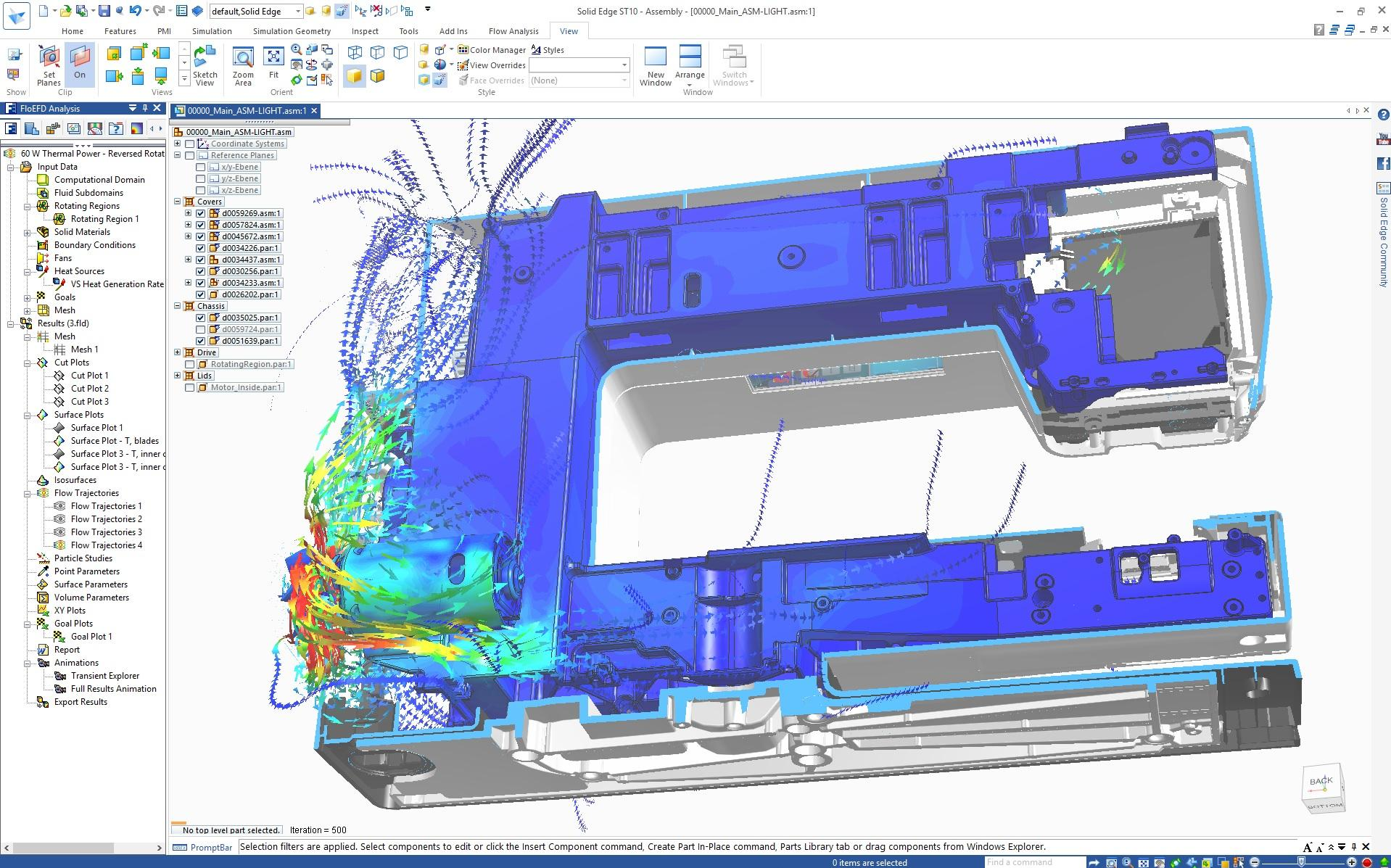 Solid Edge Flow Simulation: Гидрогазодинамические расчеты (CFD)