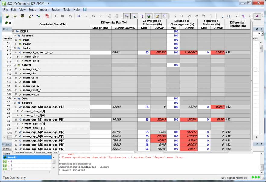 PADS Constraint Management Ограничения проверяются непосредственно в среде редактирования ограничений