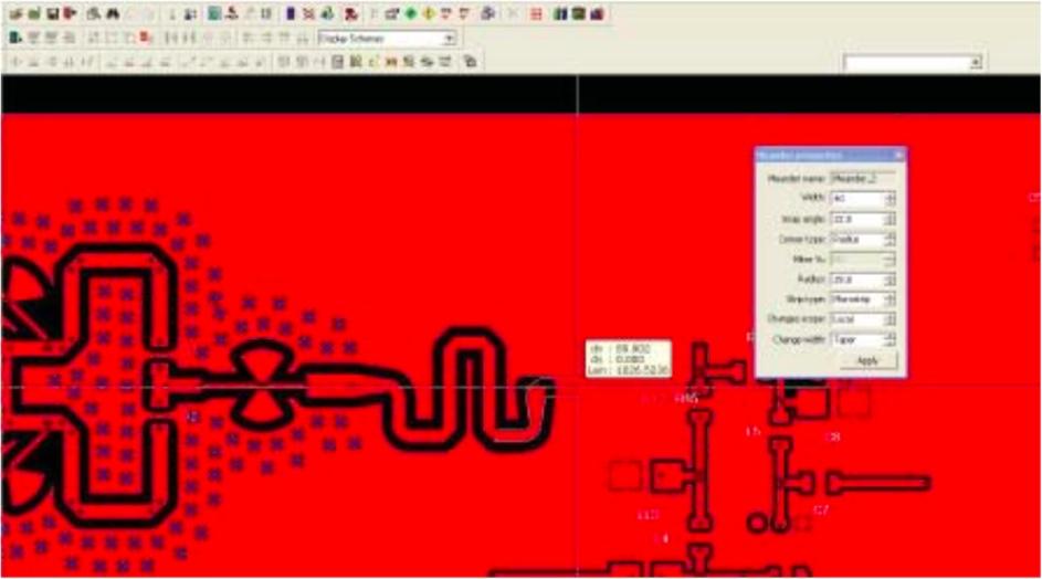 PADS Professional Advanced RF Design Добавить меандры можно в любой момент времени