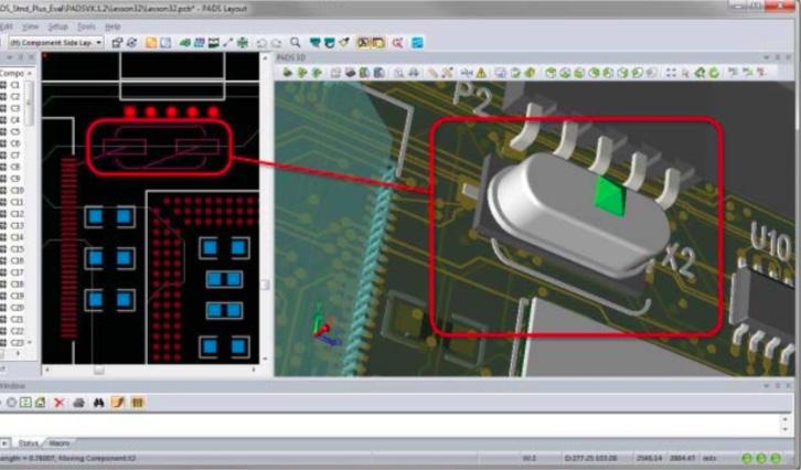 PADS Layout 3D-размещение компонентов помогает сократить время разработки