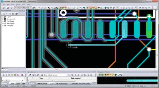 PADS Layout Защитные полосы позволяют увеличить плотность трассировки