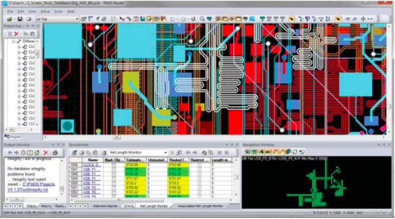 PADS Layout Трассировка высокоскоростных цепей включена в расширенные возможности топологии
