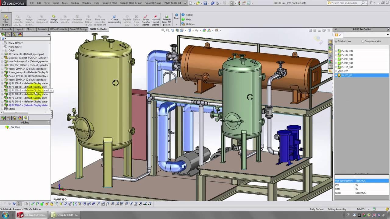 Smap3D Piping Design: 3D-проектирование трубопроводов