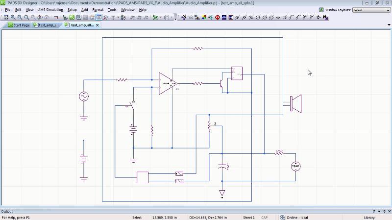 PADS Designer: cхемотехнический редактор