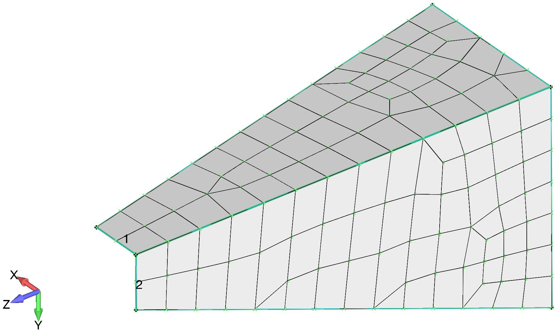 Femap Пластинчатая конечно-элементная модель кронштейна