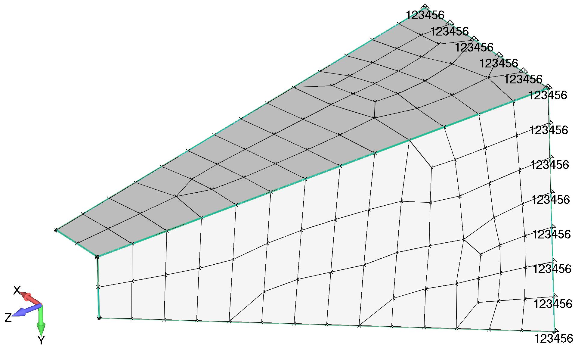 Femap Отображение ограничений степеней свободы