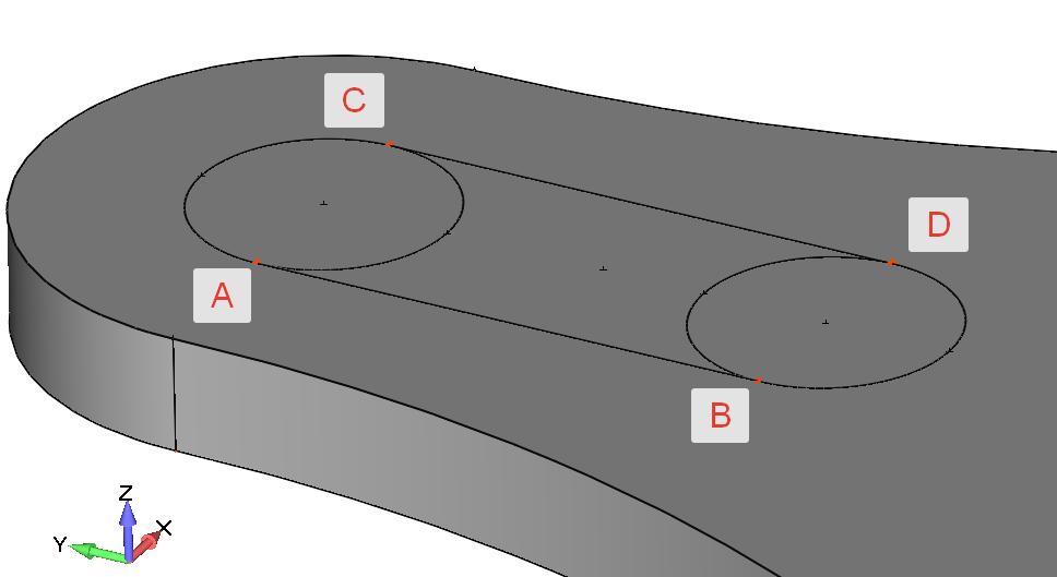 Femap Построение линий с помощью команды Geometry, Curve - Line, Points