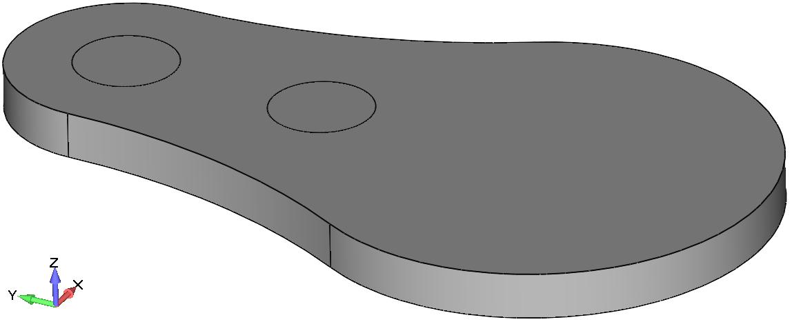 Femap Построение окружностей с помощью команды Geometry, Curve - Circle, Radius