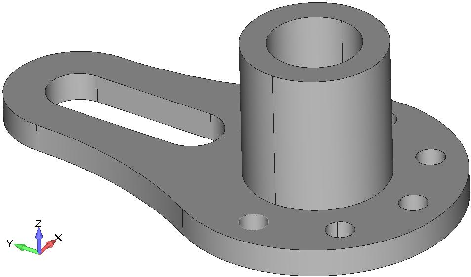 Femap NX Nastran Создание бобышки с использованием команды Geometry, Solid, Extrude