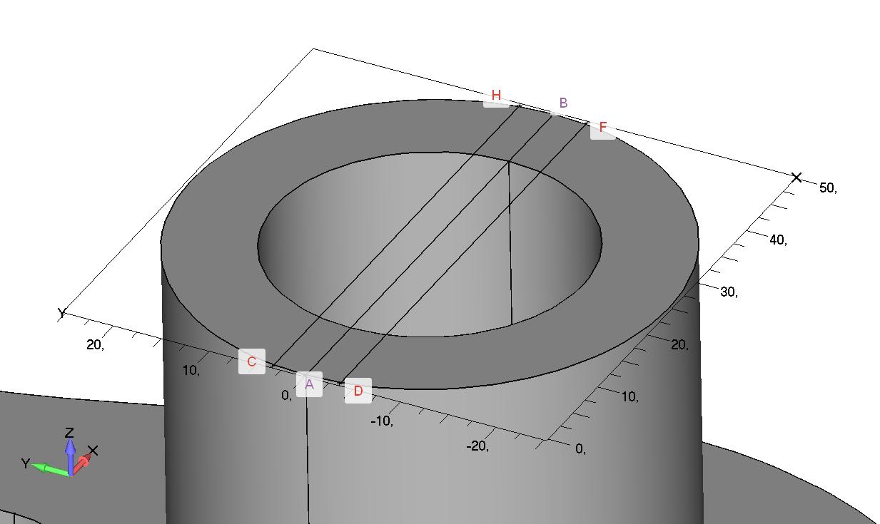 Femap NX NAstran Построение эскиза и определение граничной поверхности для создания углубления в бобышке