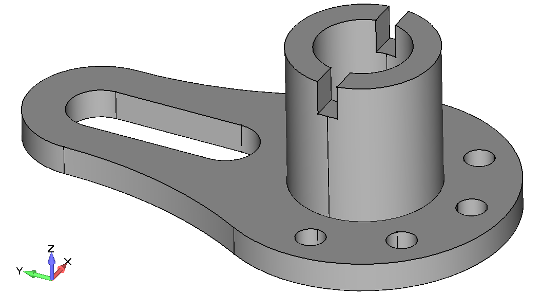 Femap NX Nastran 3-D модель направляющей