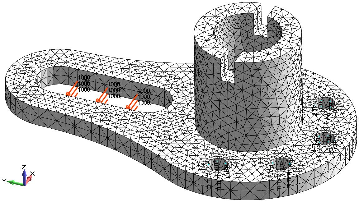 Femap NX Nastran Аппроксимация 3-D модели тетраэдральными конечными элементами типа Solid