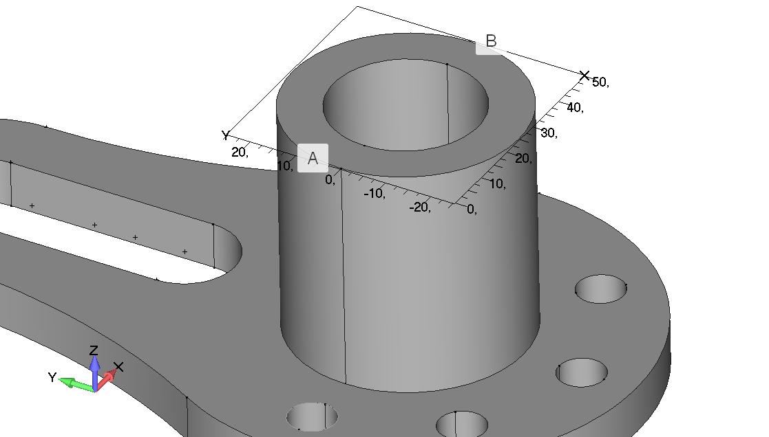 Femap NX Nastran Визуализация рабочей плоскости Workplane в трехмерном пространстве