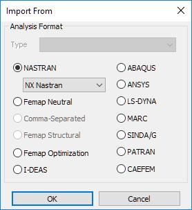 Импорт CAE-моделей из сторонних программных комплексов femap nastran