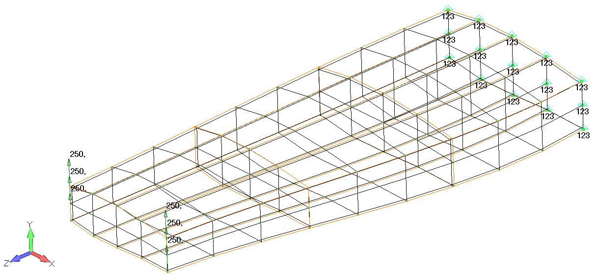 Модель крыла в SIemens Femap