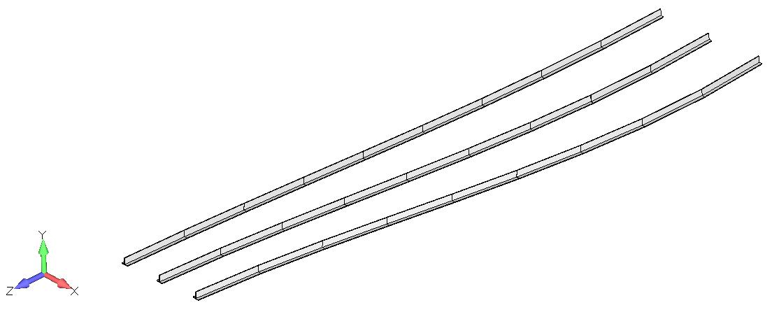 Femap NX Nastran осевые усилия в верхних стрингерах