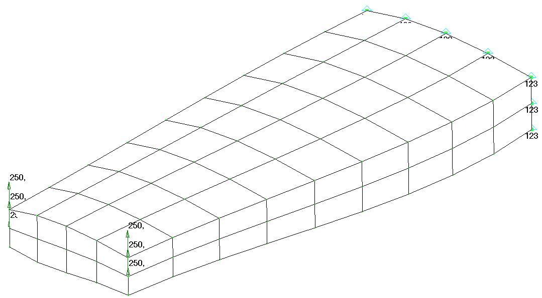 Femap NX Nastran режимы отображения модели Hidden Line