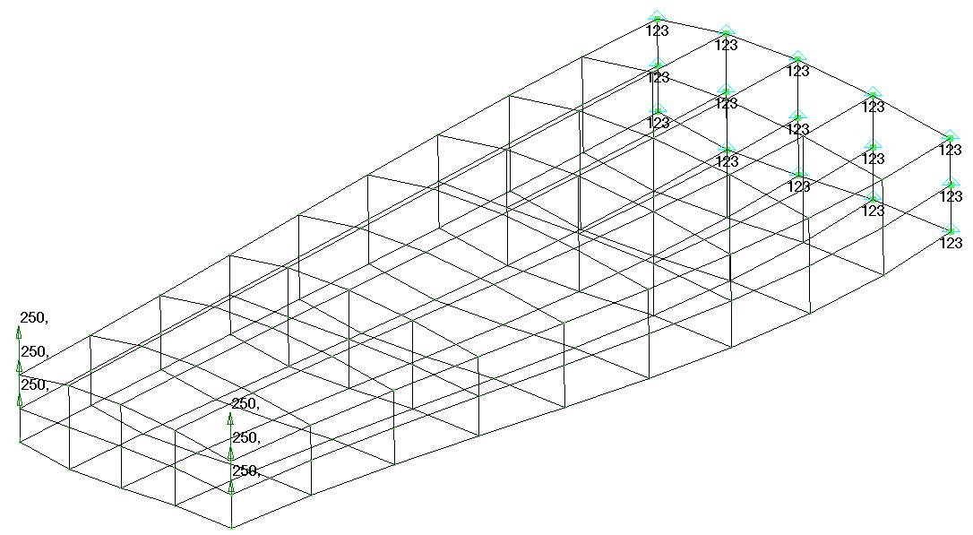 Femap NX Nastran Каркасный режим отображения модели Femap